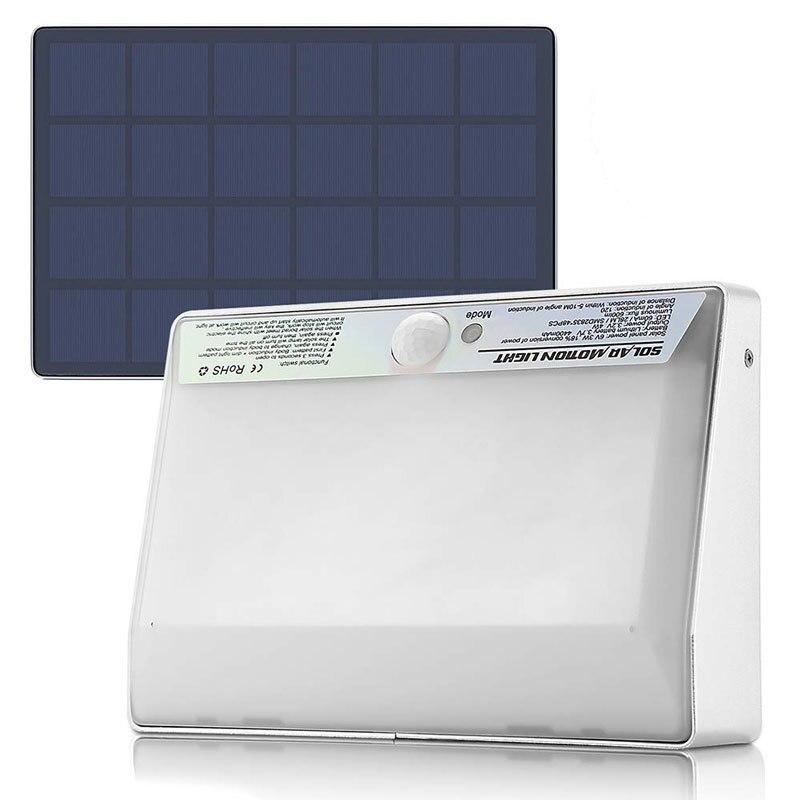LED Solar Powered 4 Watt Aluminum Motion Sensor Light, 600 Lumens, 48 LED's, IP65, Dimmable, ID-959