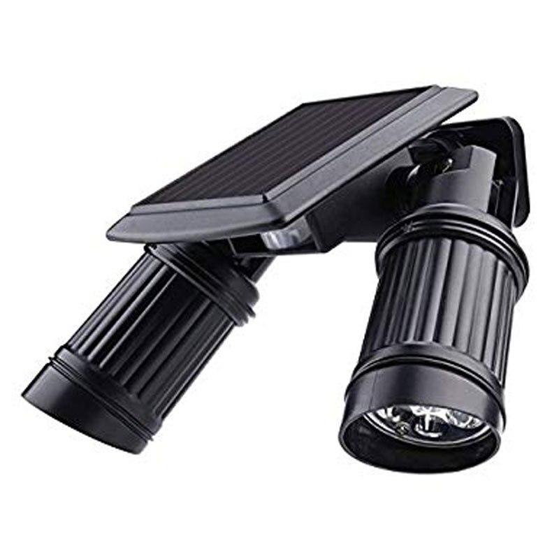 LED Solar Powered Dual Head PIR Motion Sensor Security Light, Adjustable Dual Head Spotlights, IP65 Rated, ID-963