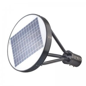 LED Solar Powered Post Top Light Fixture