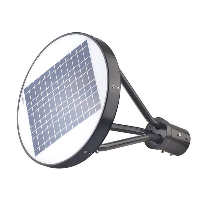 LED Solar Powered 15 Watt Post Top Light, 2250 Lumens, PIR Sensor, IP65 Rating, 120 Degree Beam Angle, ID-1017