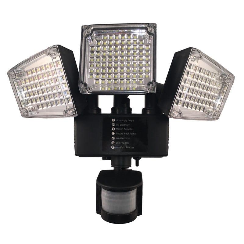 LED Solar Powered 12 Watt High Output, Motion Sensor Security Wall Light, 180 Degree Sensing Angle, 188 Super Bright LED's, IP65, ID-948