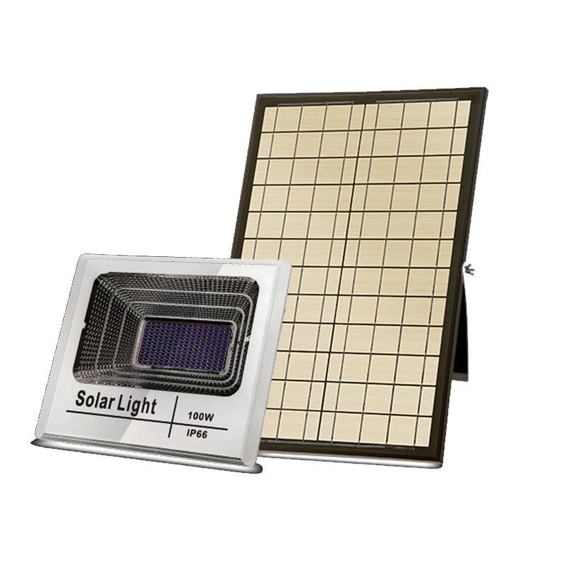 LED 100 Watt Solar Powered High Output Flood Light, 5,000 Lumens, Powered By Solar Panel, Dimmable, IP67, ID-956