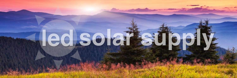 LED Solar Lighting Sun Powered Mountain Scene