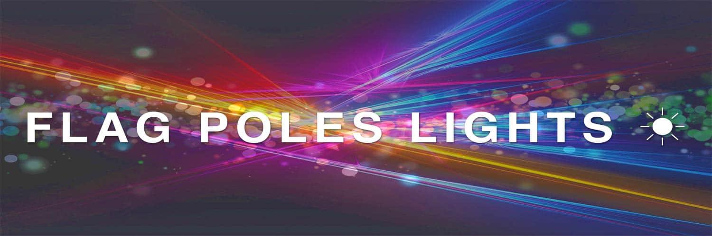 LED Solar Flag Pole Lights