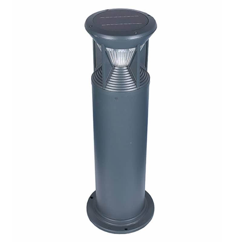 LED Solar Powered Bollard Fixture, 1.8 Watts, 200 Lumens, Comparable to 30 Watt Halogen, ID-1018