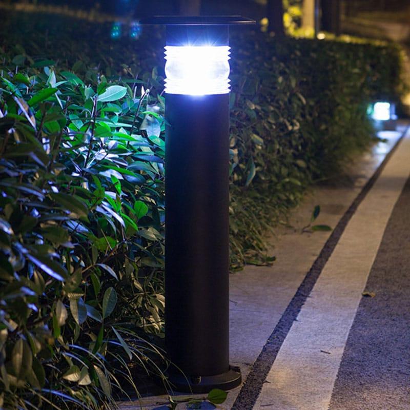 LED High Tech Solar Powered Bollard Fixture, Comparable to 30 Watt Halogen, Using Only 1.8 Watts, ID-1019