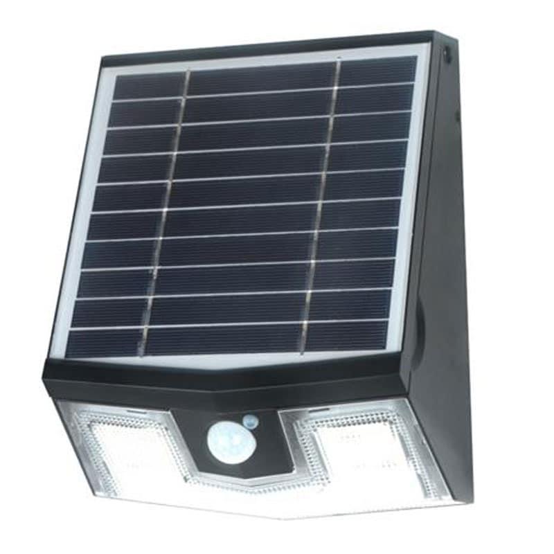 Solera 7 Watt LED Solar Powered Wall Pack, Replaces 50 Watt Halogen, 700 Lumens, 3 Modes, All-In-One Design, ID-1026