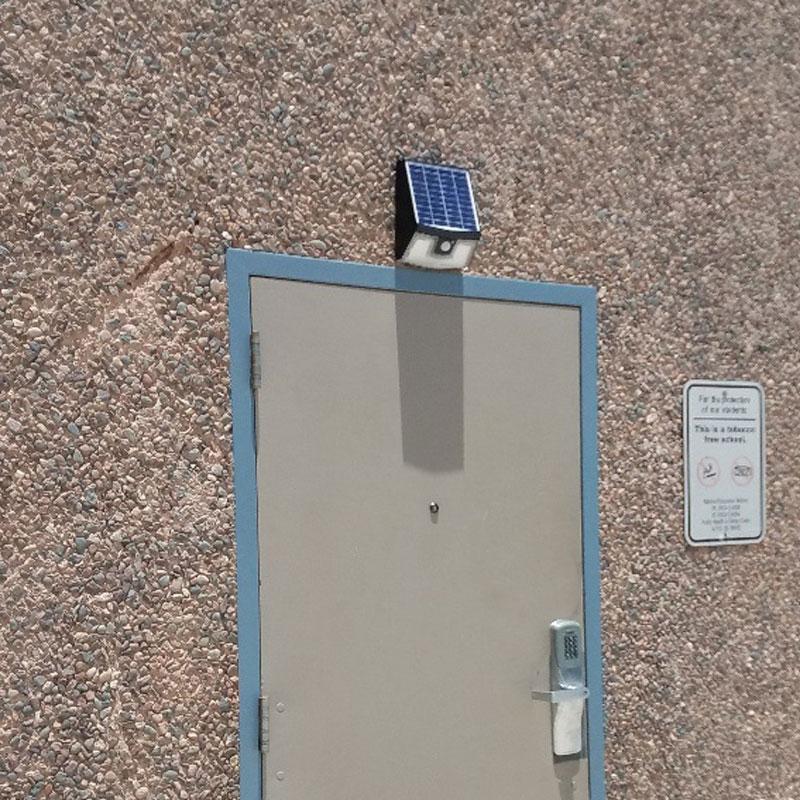 Solera 15 Watt LED Solar Powered Wall Pack, Replaces 100 Watt Halogen, 1500 Lumens, 3 Modes, All-In-One Design, ID-1027
