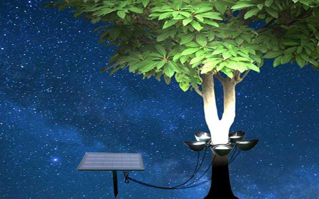 LED Solar Powered Tree Lighting
