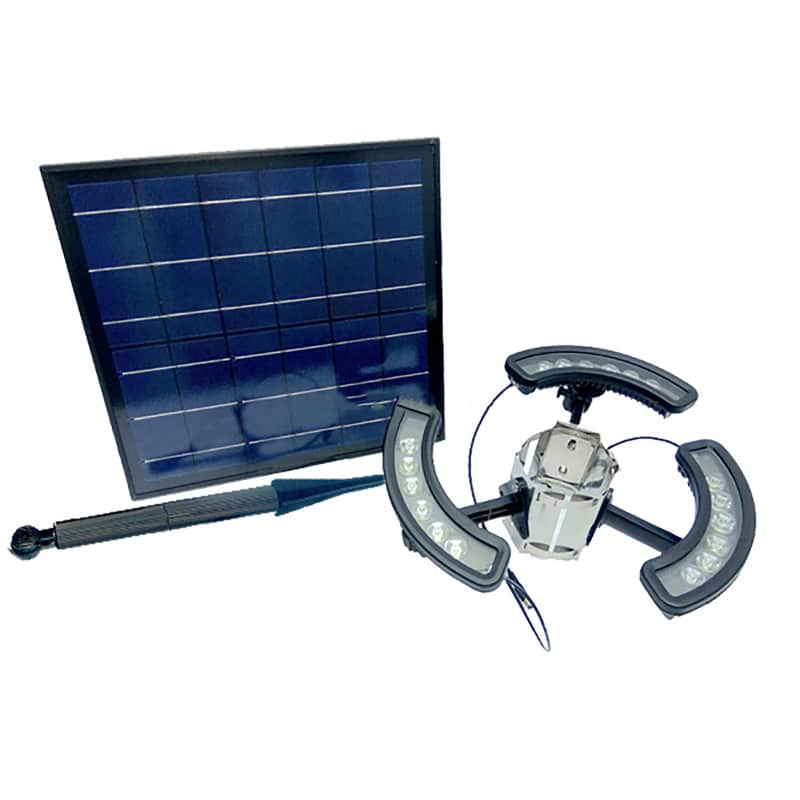 LED Solar Powered Tree Light, 16 Watt, 1980 Lumens, 18 Super Bright 1 Watt PURY LED's, Automatic Dusk to Dawn, ID-1031
