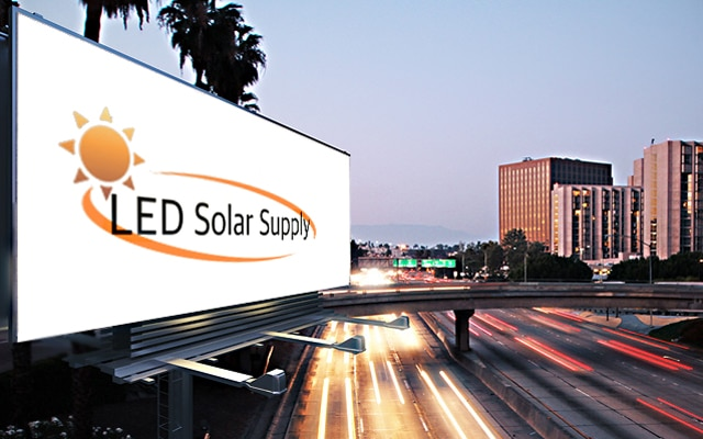 LED Solar Billboard Sign Lighting