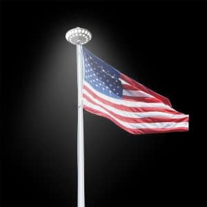 Solar Powered Flag Pole Down Light