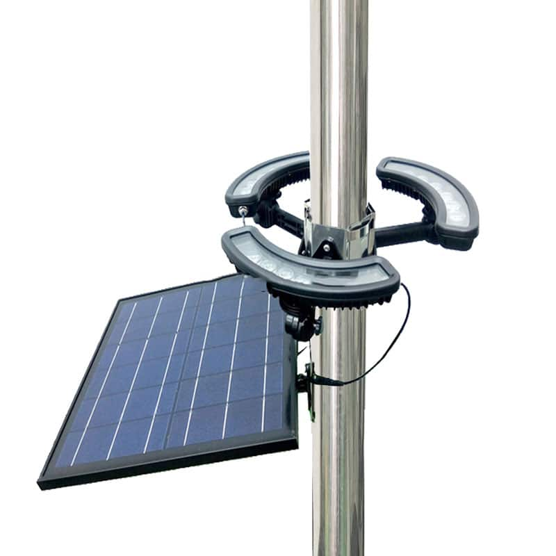 Solar Powered LED Flag Pole Light, 18 Watt, 1,980 Lumen, 15000 mAh Lithium Rechargeable Battery, IP65, ID-1054