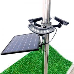 Massive Solar Powered Flag Pole Light