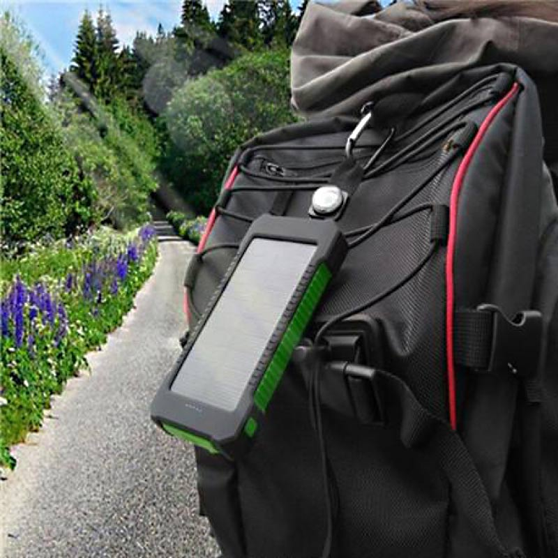 Solar Device Charger Back Pack Hang