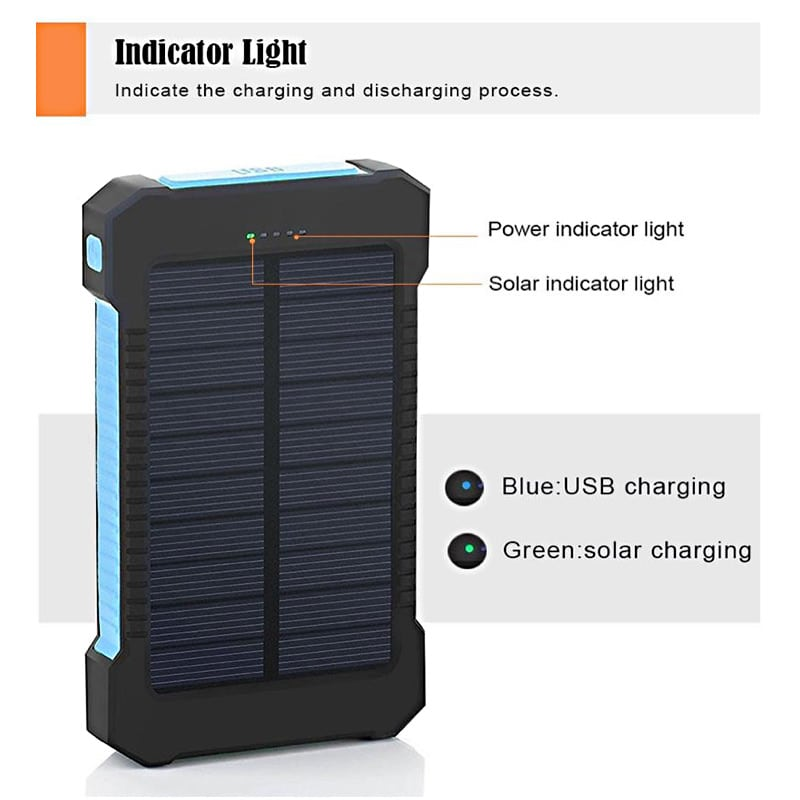 Solar Device Charger Blue