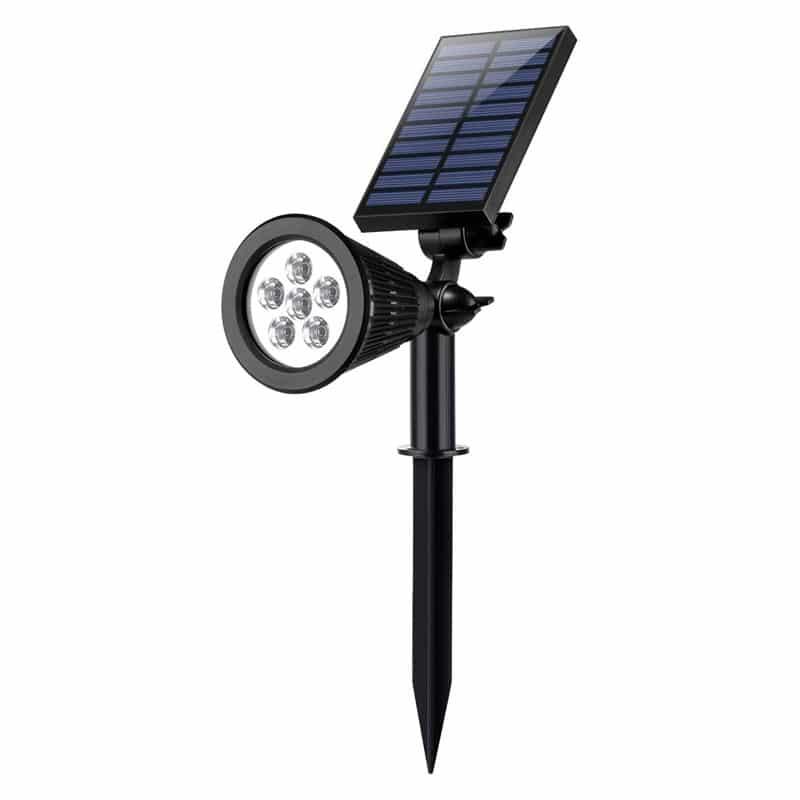 LED Solar Powered 1 Watt Lawn Light, 250 Lumens, Six 50 Lumen LED's, IP65 Rating, Dual Adjustment Feature, ID-962