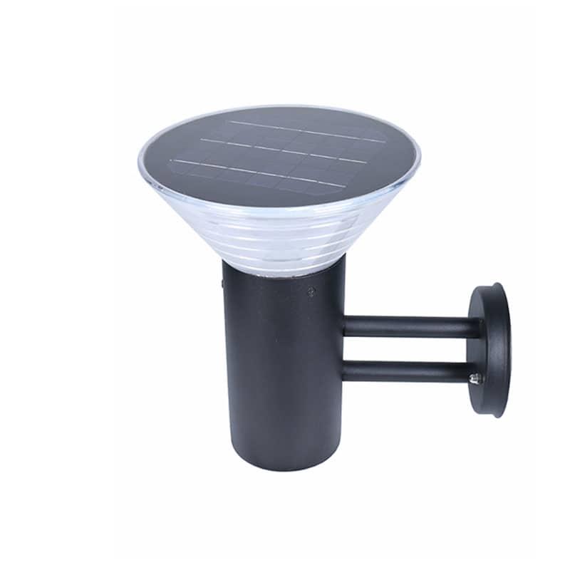 Bollard Wall Mount Solar Powered LED Fixture, Comparable To 50 Watt Halogen, 385 Lumens, ID-1100