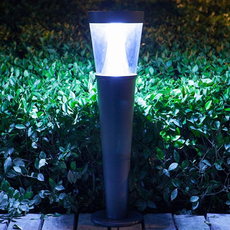 Bollard Solar Powered LED Fixture, Comparable to 30 Watt Halogen, 198 Lumens, 3.5W Monocrystalline Grade A Panel, ID-1097