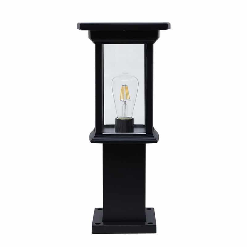 Bollard Solar Powered LED Fixture, Comparable To 50 Watt Halogen, 330 Lumens, ID-1101