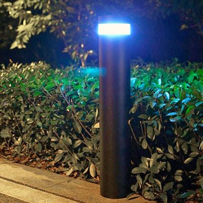 Bollard Solar Powered LED Light Fixture, 120 Degree Beam Angle, 210 Lumens, ID-1021