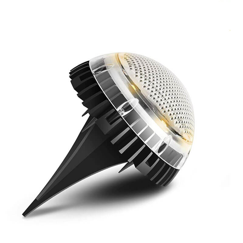 LED Solar Powered Waterproof Dome In Ground or Wall Mount Light, 8 High Output LEDs, IP67, 12 Hour Working Time
