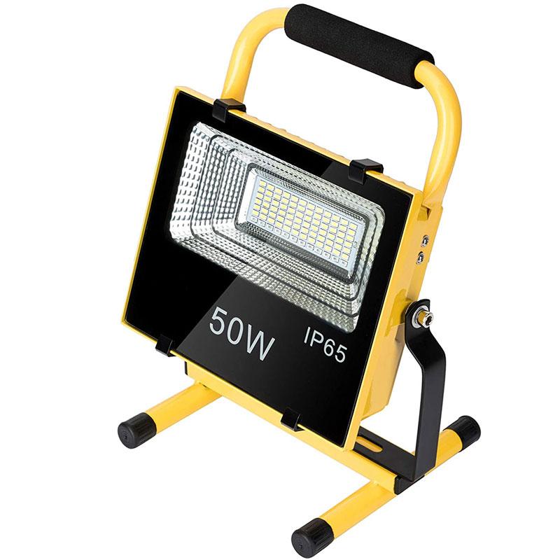 LED Solar Powered 50 Watt Portable Outdoor Work Light, FLood Light, 4500 Lumen, 3 Modes